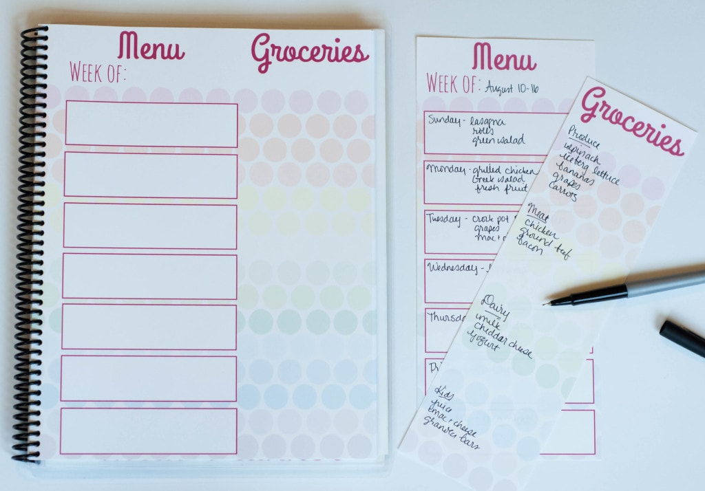 Meal Planner Perforated Pages