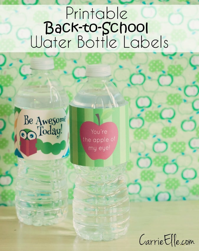Printable Back to School Water Bottle Labels