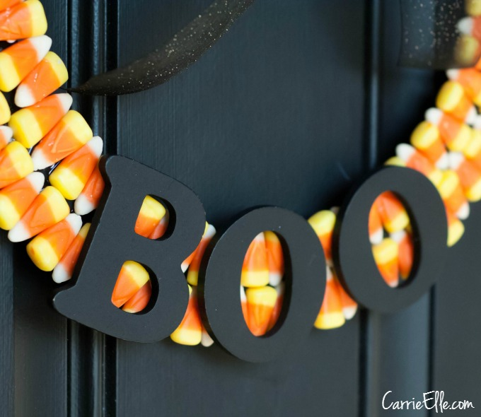 Candy Corn Wreath BOO