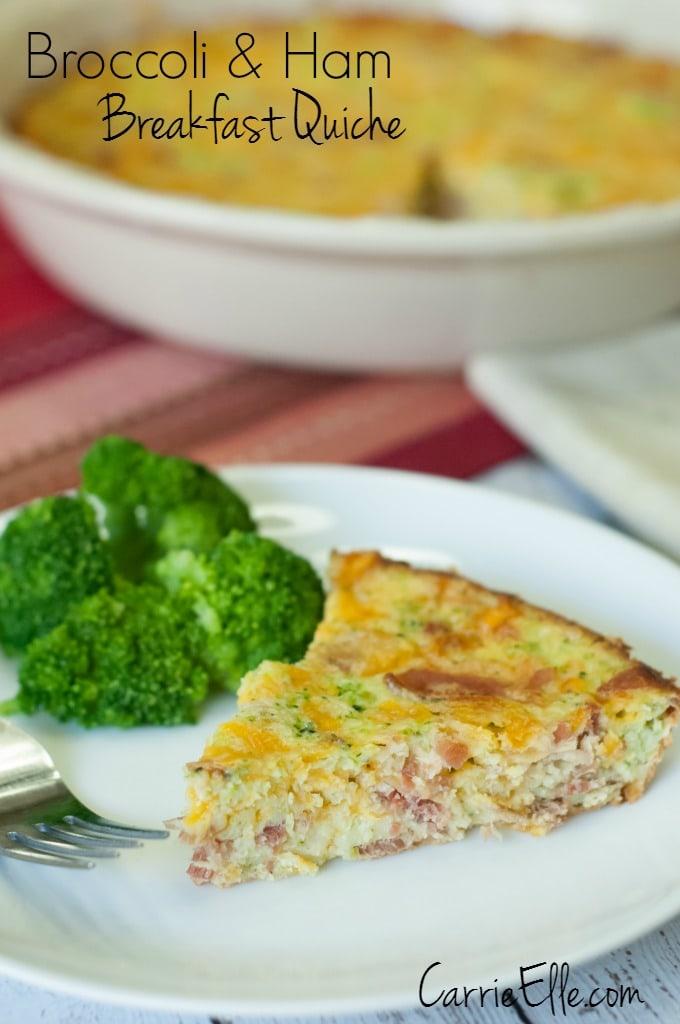 Broccoli and Ham Breakfast Quiche