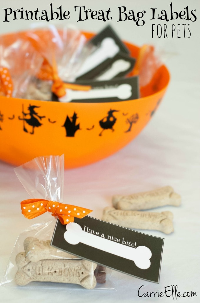Printable Treat Bag Labels