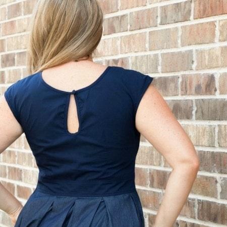 eShakti Back of Dress