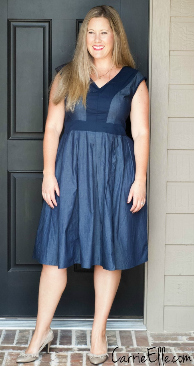 Eshakti dress review and coupon code eshakti denim dress ombrellifo Images