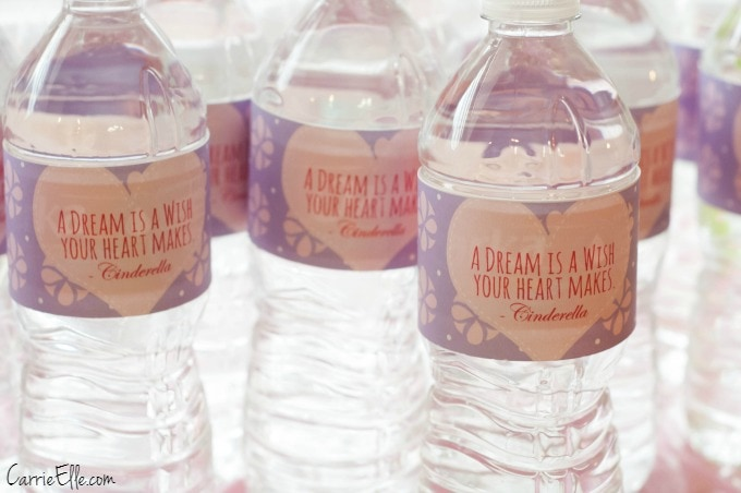 Princess Water Bottle LabelsPrincess Water Bottle Labels