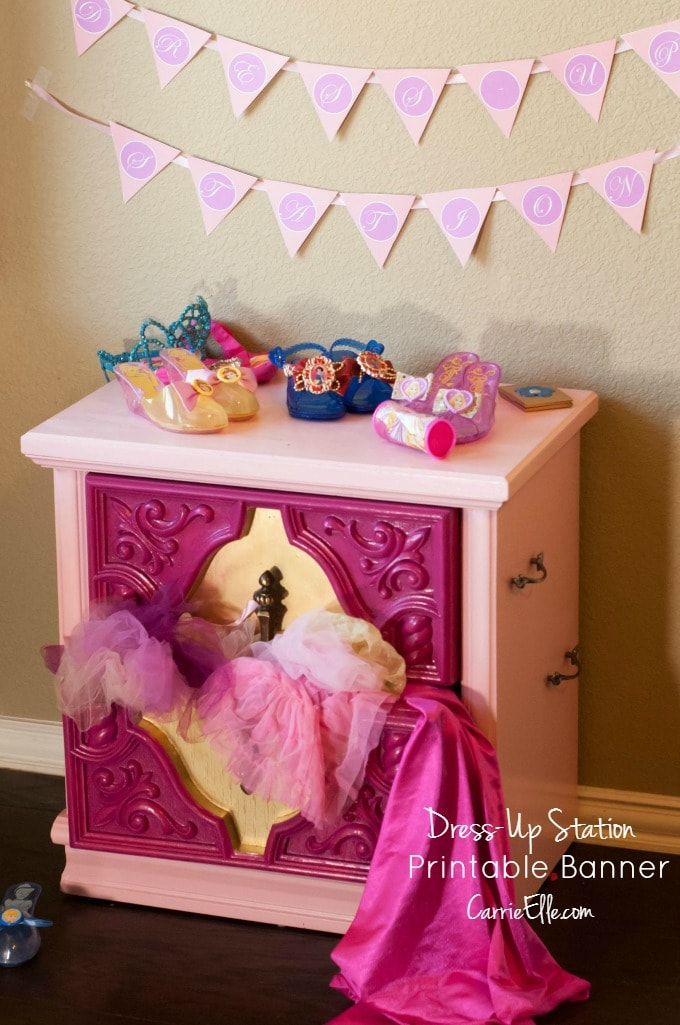 Printable Princess Party Banner