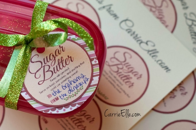 Sugar Butter Labels