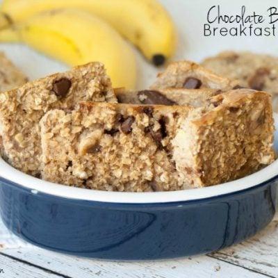 Low-Calorie Chocolate Banana Oatmeal Breakfast Bars