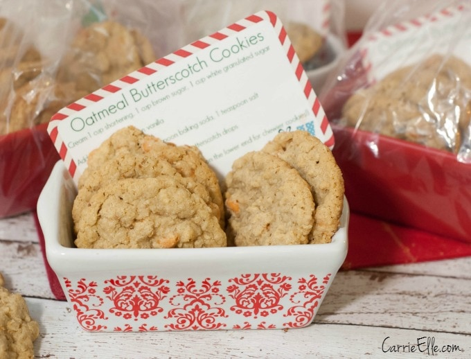 Cookies with printable recipe card