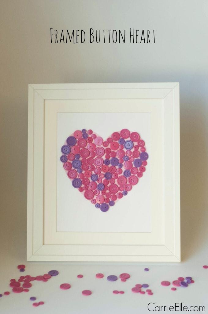 Framed Button Heart