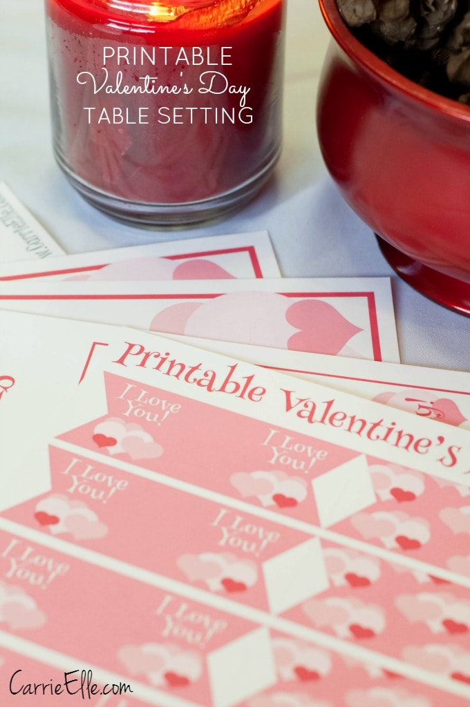 Printable Valentines Day Table Setting
