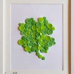 St. Patricks Day Button Clover Craft & Shamrock Printable
