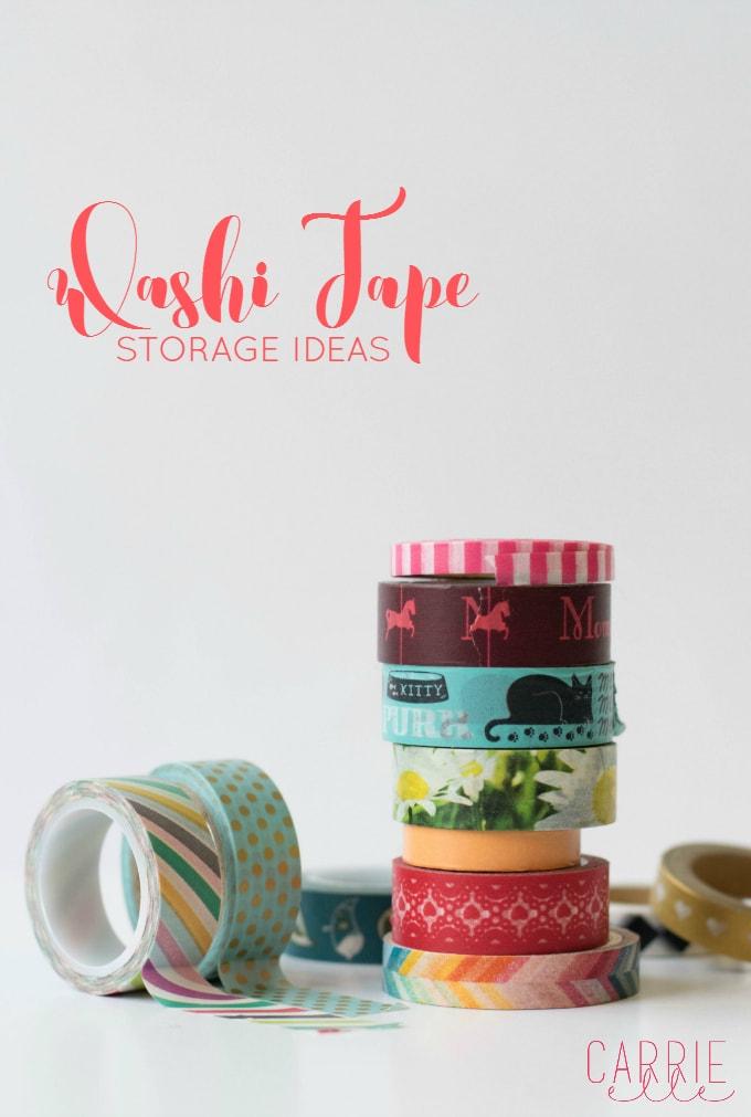 Washi Tape Storage Ideas