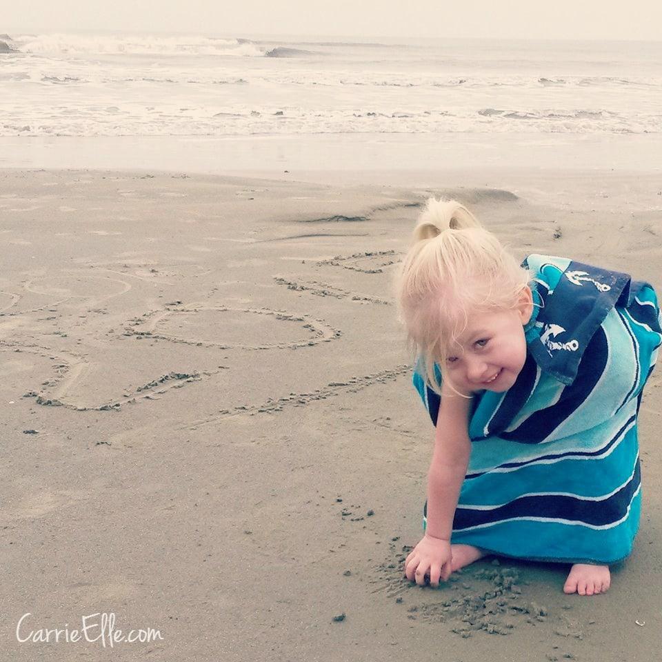 Digging at beach Galveston 2015