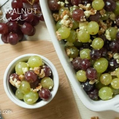 Super Simple Grape & Walnut Salad