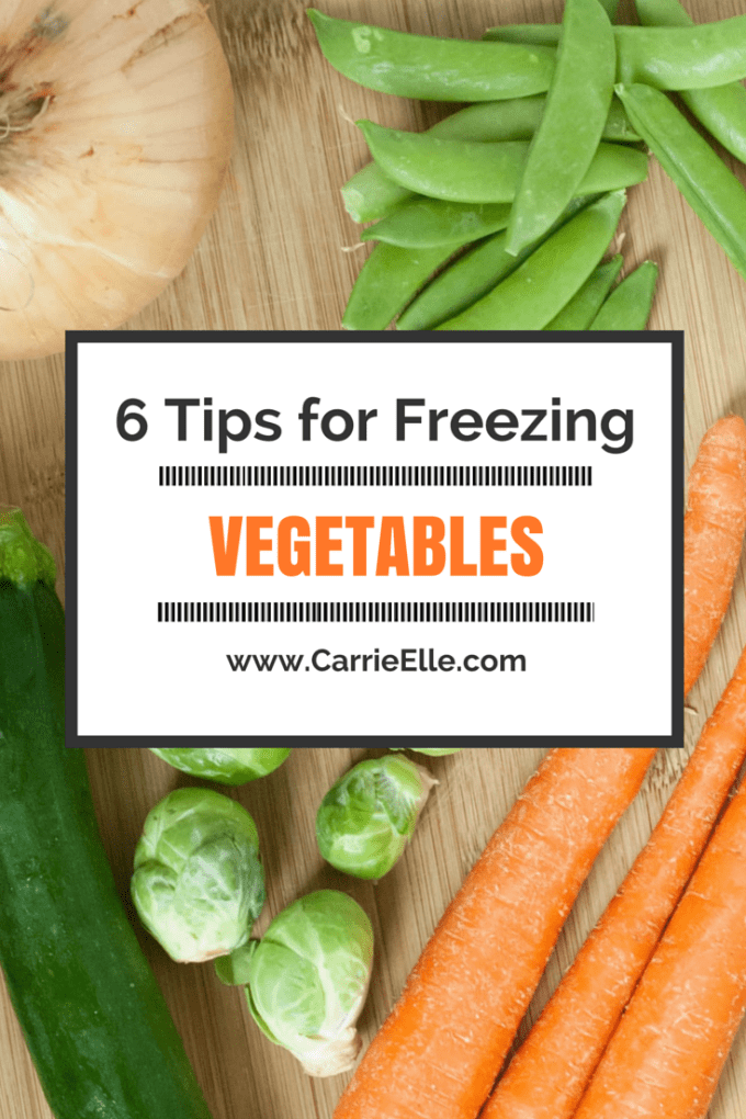 6 Tips for Freezing Vegetables