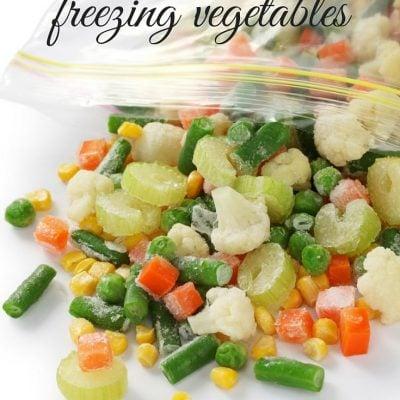 Tips for Freezing Vegetables