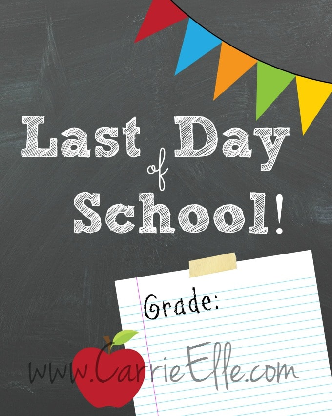 graphic relating to Last Day of School Printable known as No cost Past Working day of College or university Printables