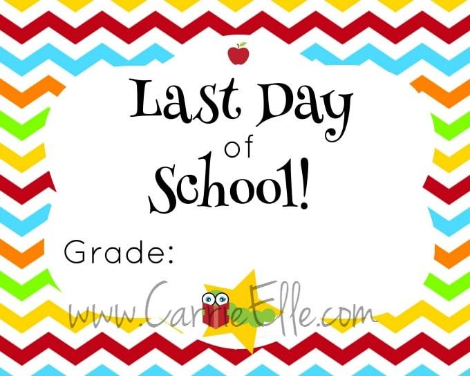 Last Day of School Chevron