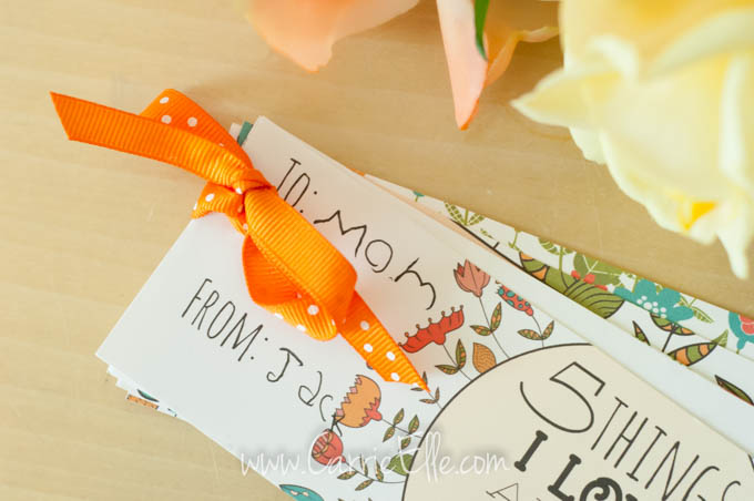 Mother's Day Card with Ribbon