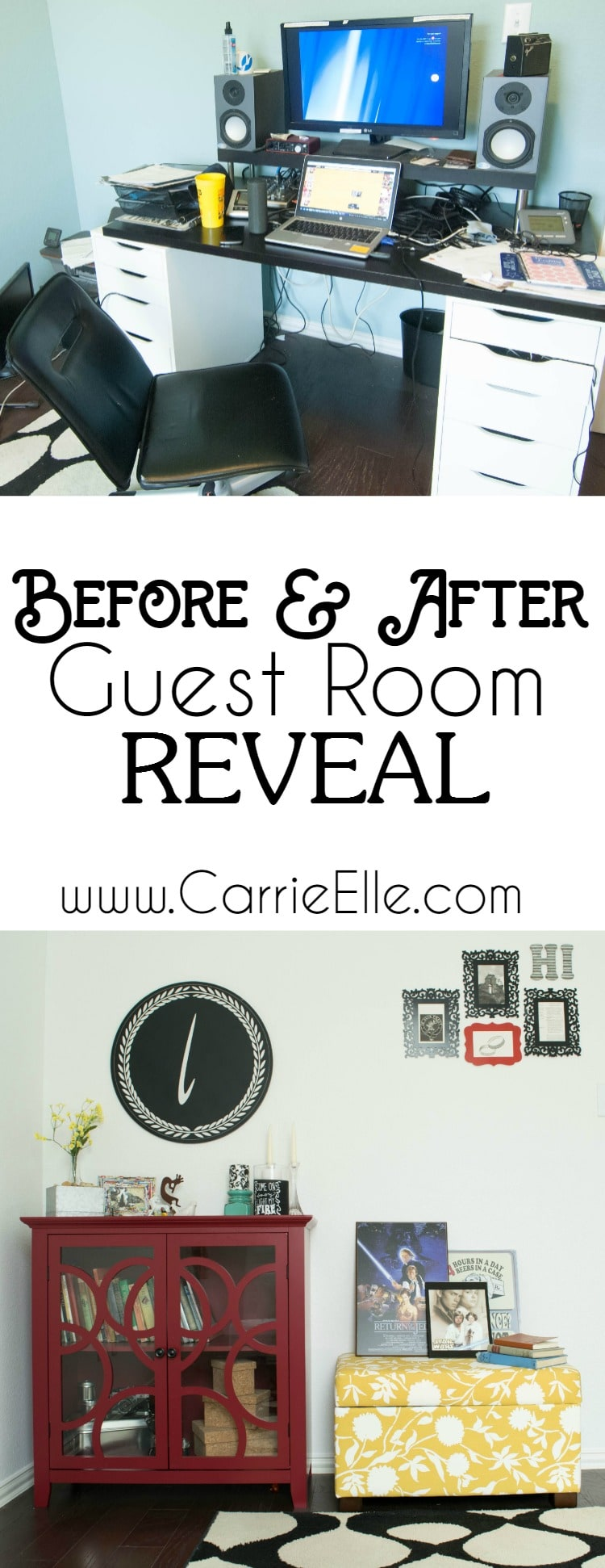 Before and After Guest Room