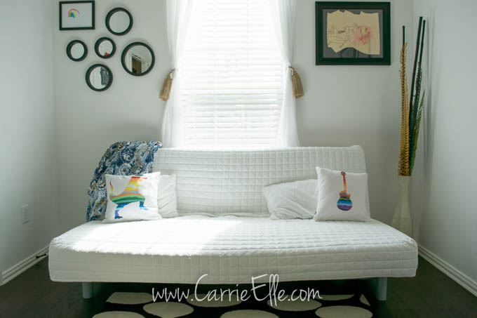 Guest Room White Futon