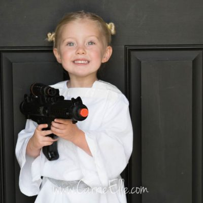 No-Sew DIY Princess Leia Costume for Kids
