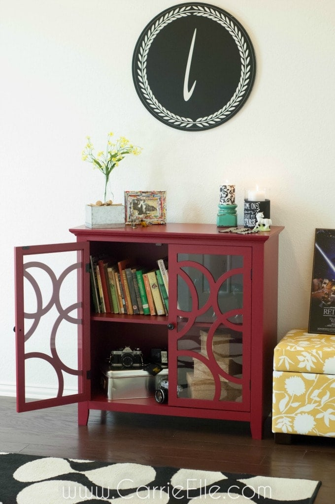 Red Sauder Display Cabinet
