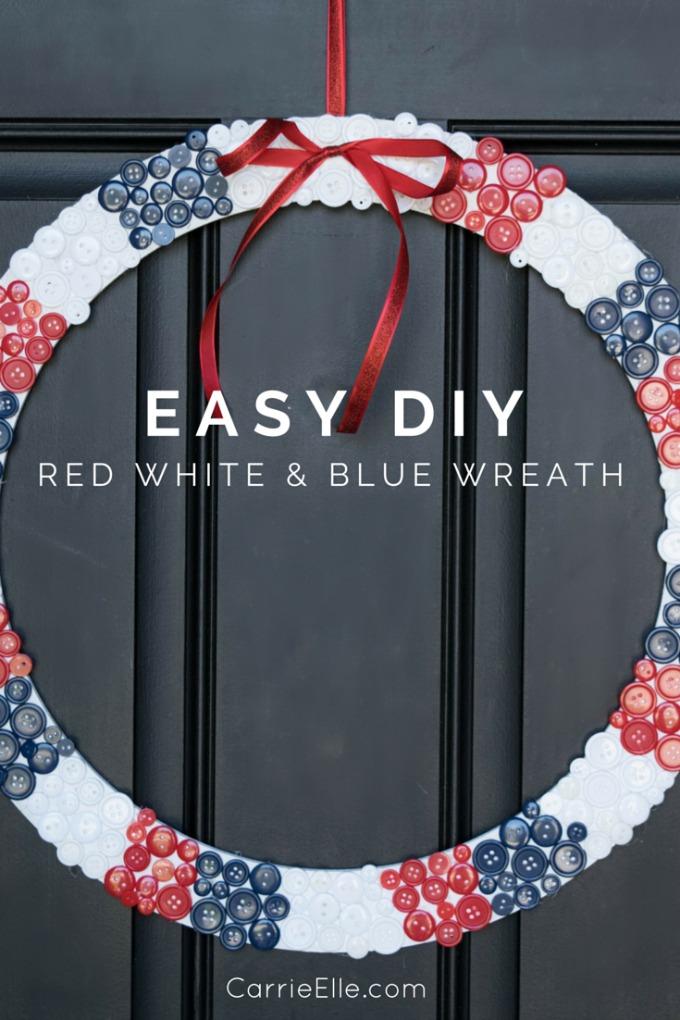 EASY DIY 4th of July Wreath