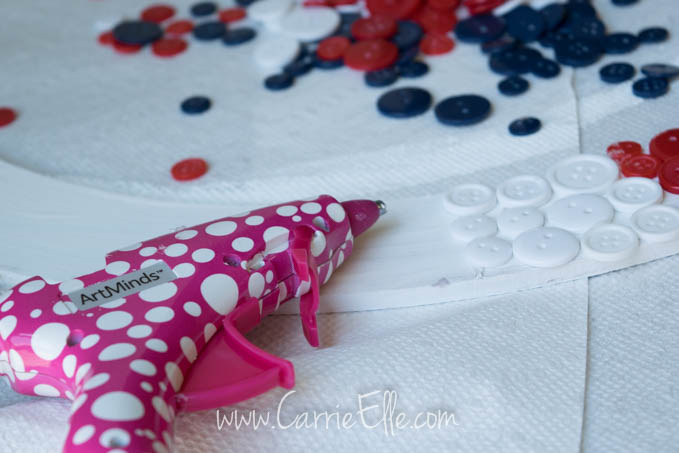 Glue Gun and Buttons
