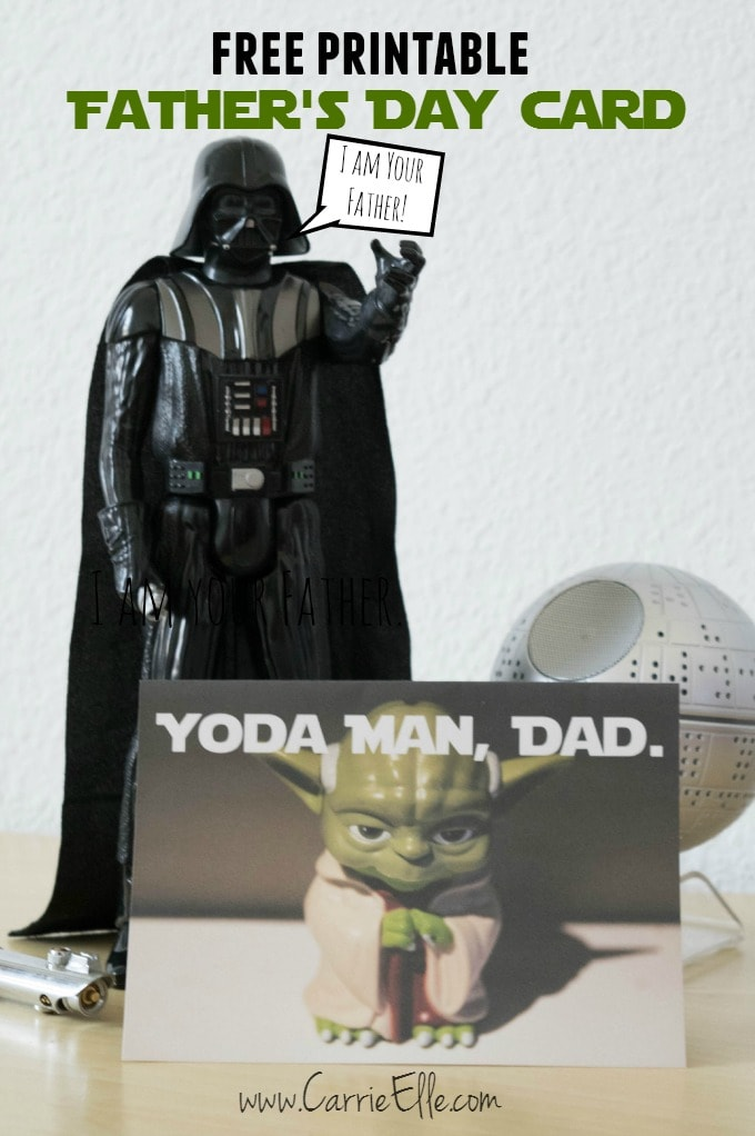 Free Printable Father's Day Yoda Card