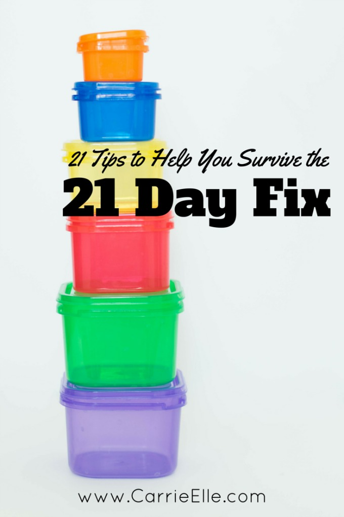 Tips to Survive 21 Day Fix