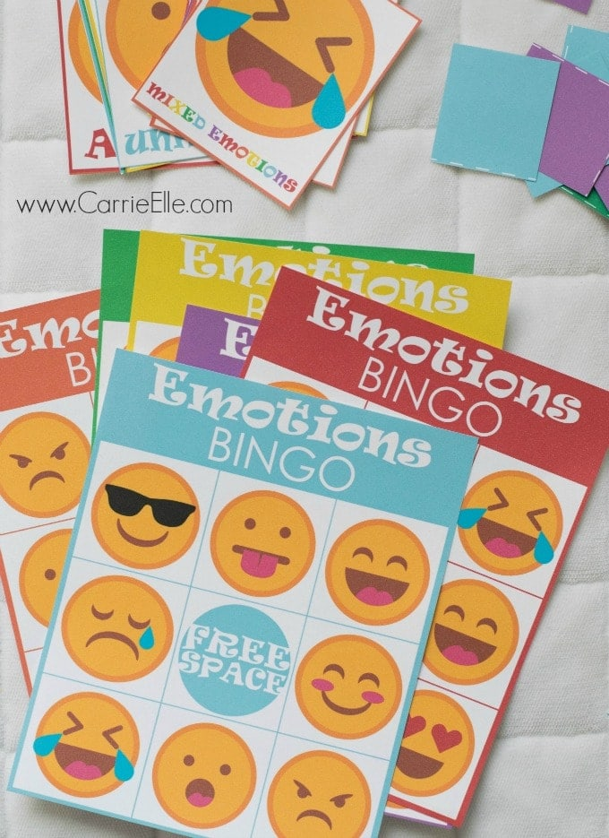 image regarding Emoji Feelings Printable identify Printable Small children Online games: Feeling Bingo Influenced through Inside of Out