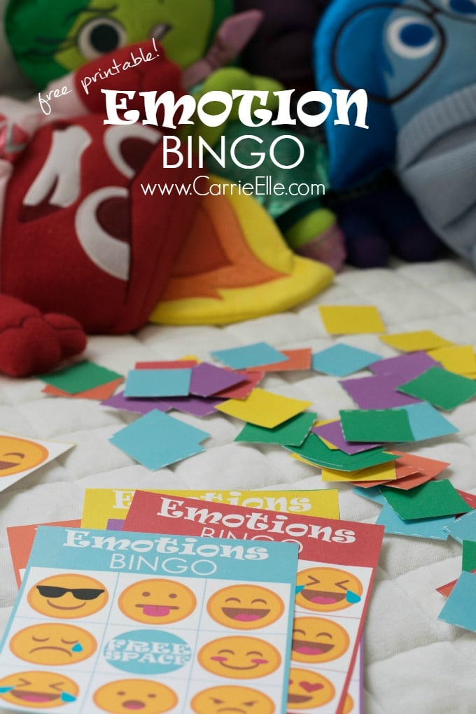 Free Printable Emotion Bingo Game
