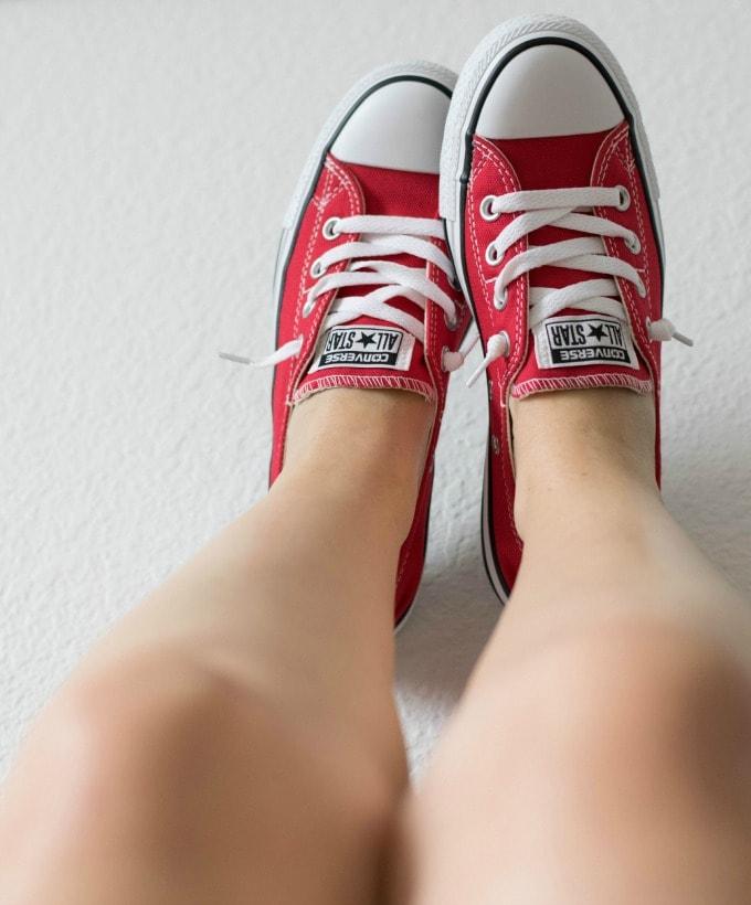 Red Converse Slipons
