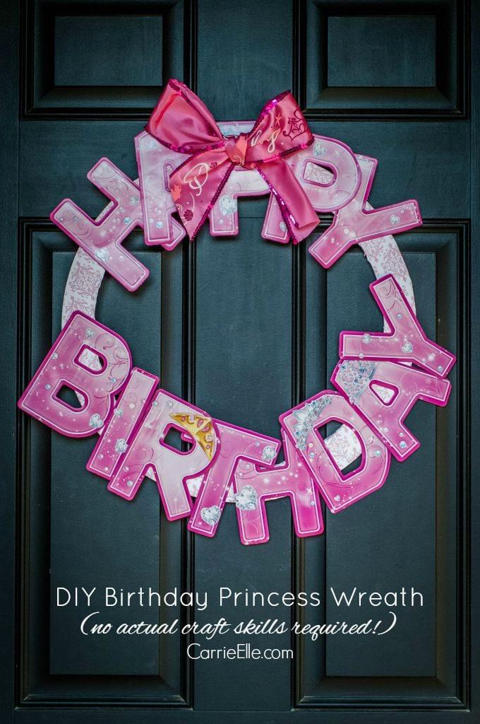 Happy Birthday Princess Wreath