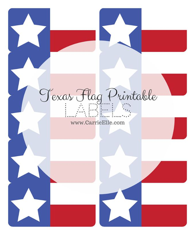 Texas Flag Printables