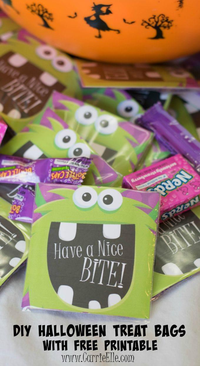 Printable Halloween Treat Bag LabelsCarrie Elle