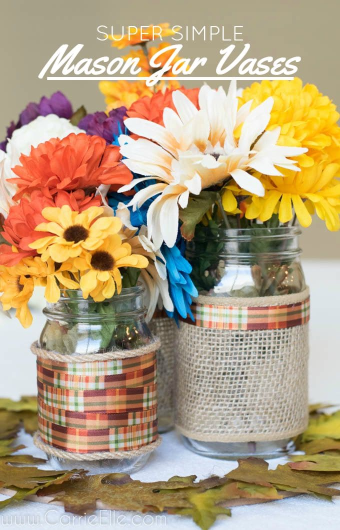 Easy diy centerpieces for fall carrie elle