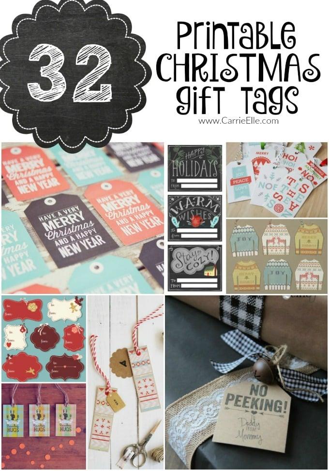 32 Free Printable Christmas Gift Tags