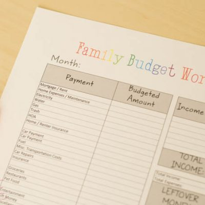 Free Printable Budget Worksheet and Tips for Saving Big