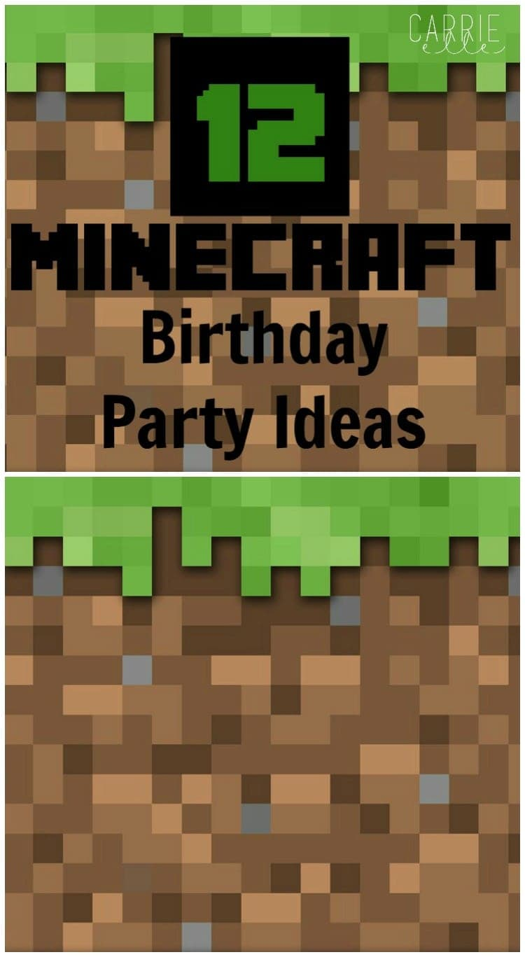 craft birthday party 12 minecraft ideas carrie 1431