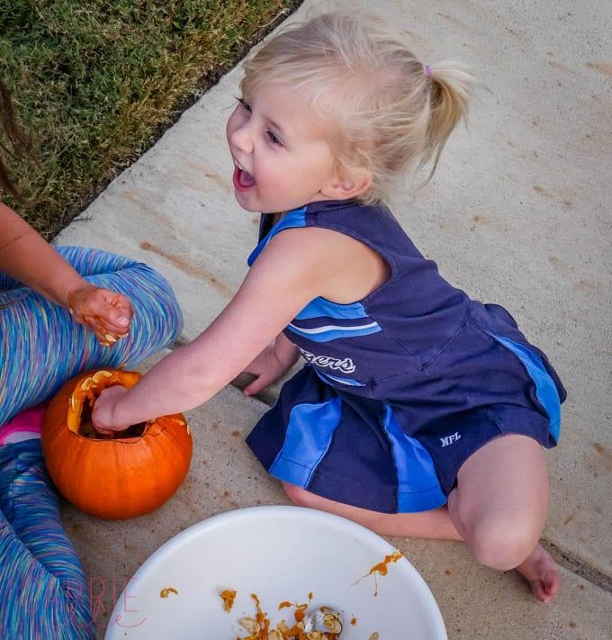 Pumpkin Guts!