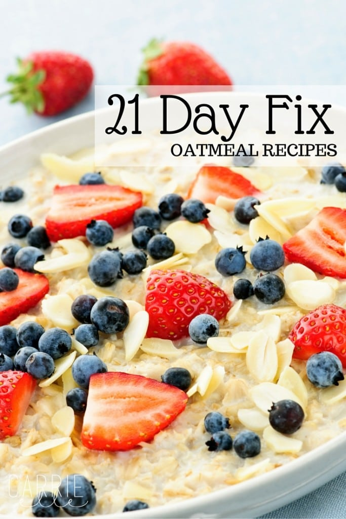21 Day Fix Oatmeal Recipes