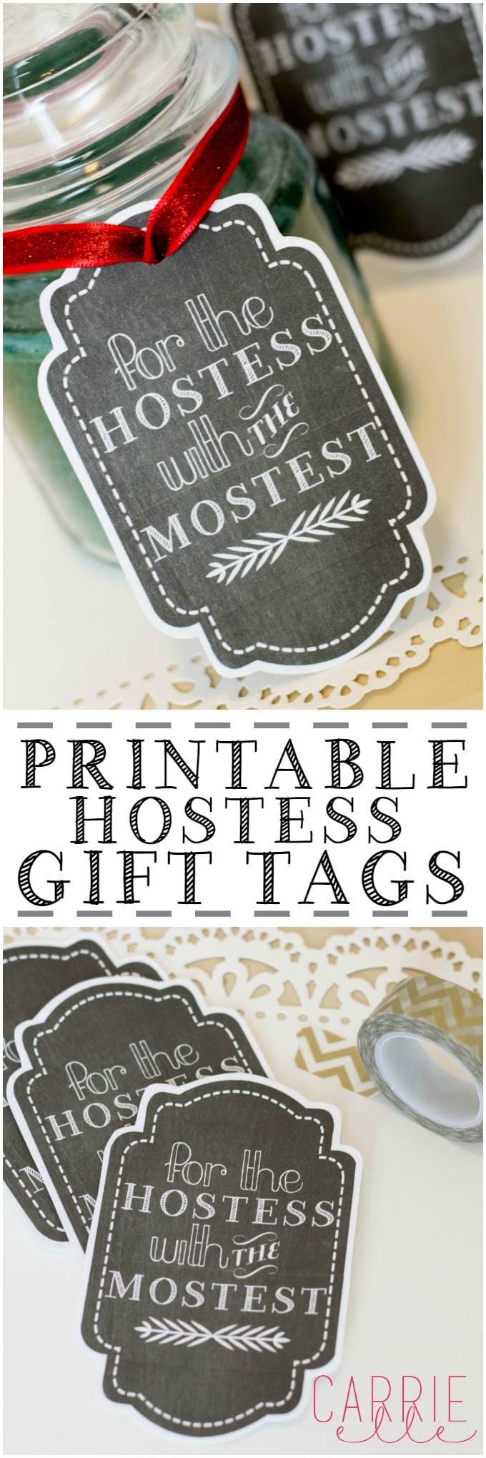 Free Printable Gift Tags: Hostess Gift Tag