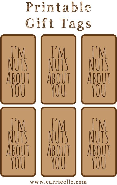 Printable Gift Tags Carrie Elle