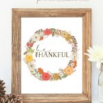 Free Thanksgiving Printable Wall Art