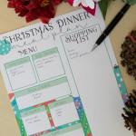 Christmas Meal Planning Printables