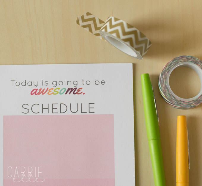 Printable Daily Planner and To-Do List