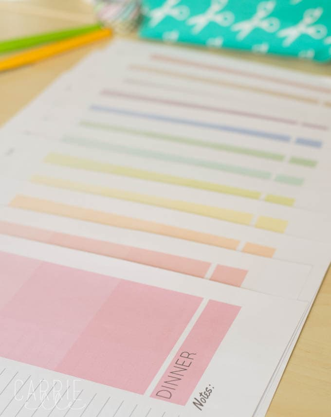 Printable Planner Colors