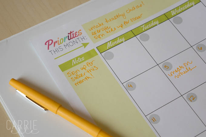 Print Your Own Planner